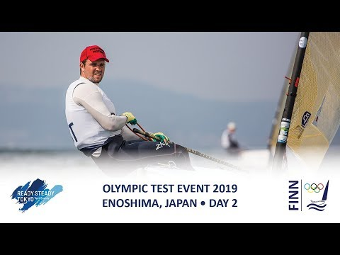 Highlights from the Finn class on Day 2 of Ready Steady Tokyo - the 2019 Olympic Test Event