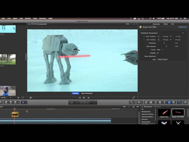 Blaster Bolt for FCP X, Premiere Pro, After Effects and Motion Tutorial