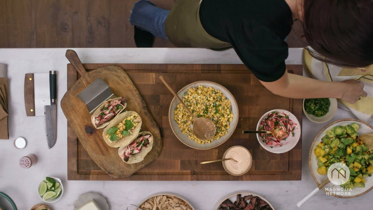 How to Assemble Jo's Street Tacos   Magnolia Table with Joanna Gaines   Magnolia Network