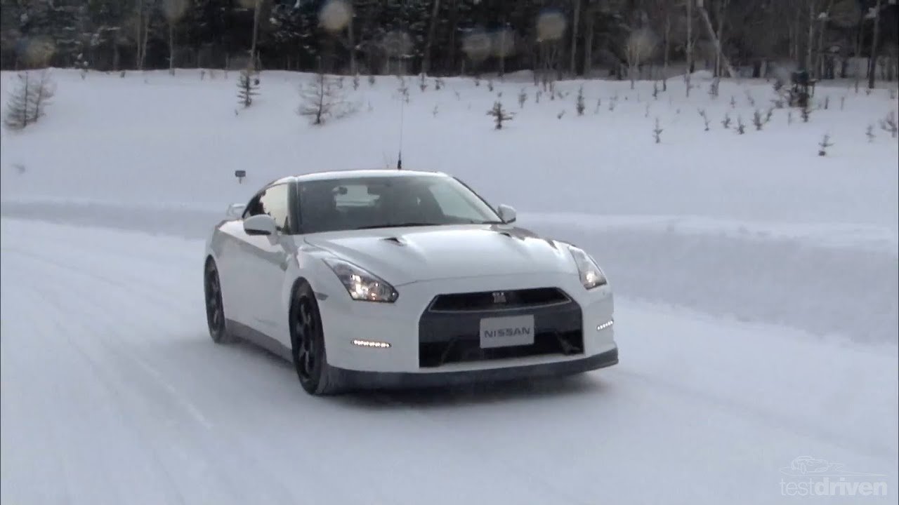 Nissan GT R Snow Testing YouTube