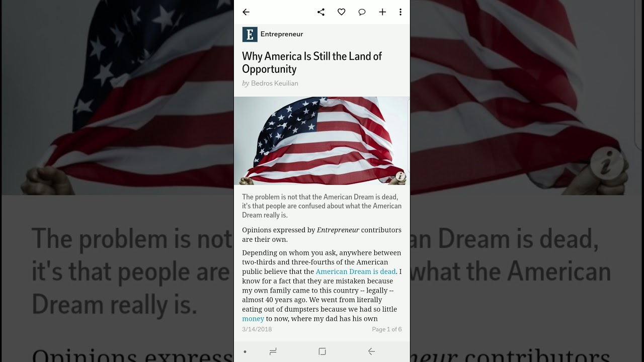american dream opportunity