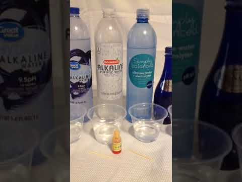 Walmart & Brookshires Vs Target Simply Balanced Alkaline Bottled Water Test PH 9.5+ & TyNant