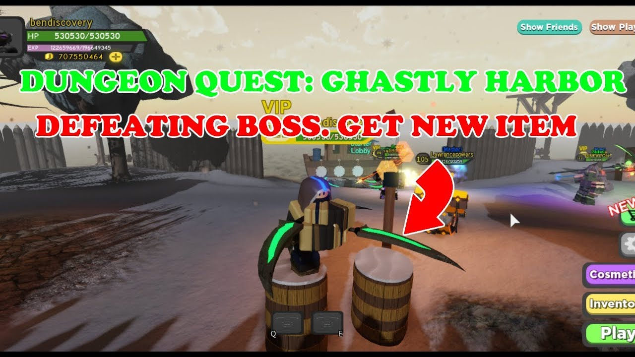 Dungeon Quest Ghastly Harbor Defeat The Boss And Get New Item