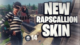 Fortnite Battle Royale - New Rapscallion Skin 14 Kill Solo Gameplay