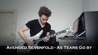 Avenged Sevenfold - As Tears Go By (Guitar Cover + Solo)
