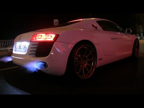 Audi R8 Le Mans Edition w/ ADV1 Wheels & Capristo Exhaust | INSANE REVS + FLAMES!!