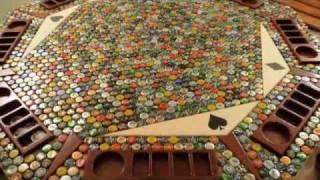 Amazing Bottle Cap Poker Table