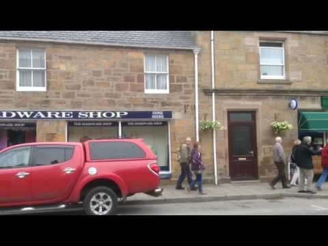 Shops and streets, Dornoch, Scotland