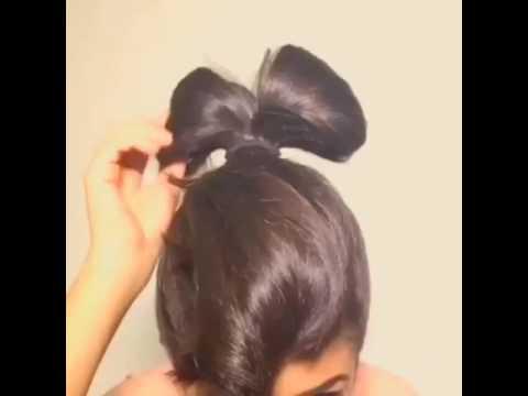 3bbd4575fab8b تسريحة شعر فيونكة جميلةة وسهلة وسريعة - YouTube