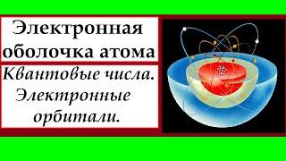 Электронная оболочка атома. Квантовые числа. Электронные орбитали.