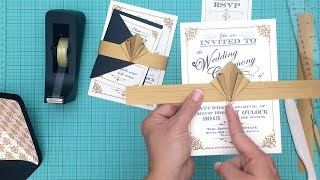Diy Artdeco Wedding Invitation