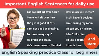 Common English sentences used in daily life    English Speaking practice Class for beginners
