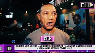macrons visit nigerian leaders should apologise to felas family ben bruce osoba obi speak