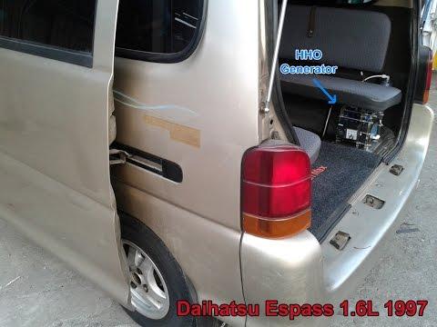 Fuel saver (HHO) on Daihatsu Espass 1.6L 1997