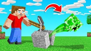 Minecraft BUT Breaking BLOCKS Spawns MOBS!