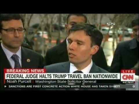 Federal Judge Strikes Down President Trump's Travel Ban  No word yet on how Trump will react