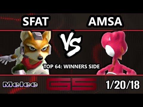 GENESIS 5 SSBM - CLG.SFAT (Fox) VS VGBC | aMSa (Yoshi) - Smash Melee Top 64 Singles