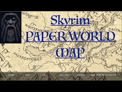 Skyrim SE A Quality World Map Paper version