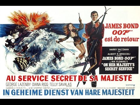 1969 - James Bond - On her majesty's secret service: title sequence