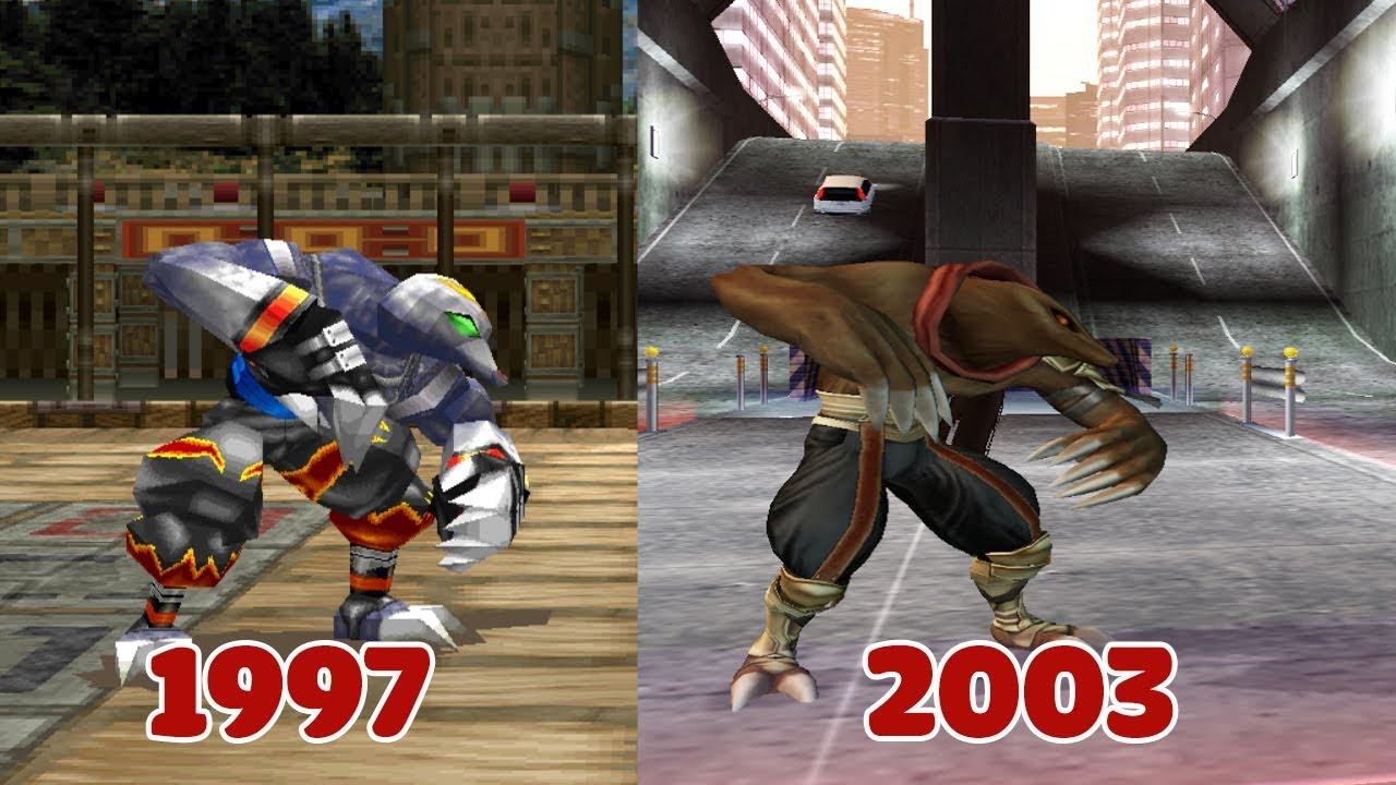 Evolution of Bloody Roar: Bakuryu The Mole qua các phiên bản (1997 – 2003)