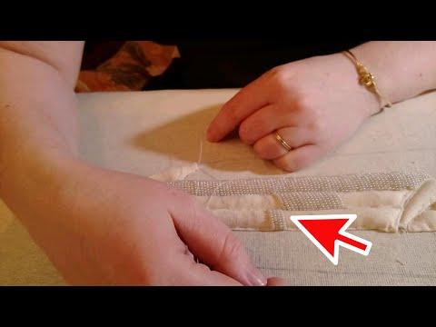Видеоурок по вышиванию бисером. Техника вышивания по настилу. Как вышивать по настилу бисером.