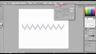 How To Create A Zig Zag And Curvy Line In Illustrator