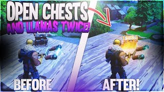 How to open the same chest/llama TWICE in Fortnite! Open Chests/Llamas TWO times using this!
