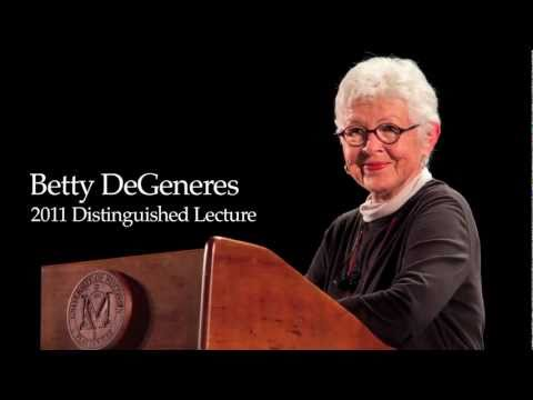 Betty DeGeneres - 2011 Distinguished Lecture - YouTube