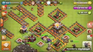 Clash of clans fhx server 400 balonla atak