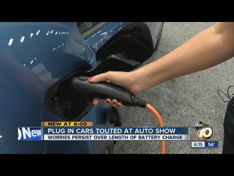 Plug-in electric cars touted at auto show