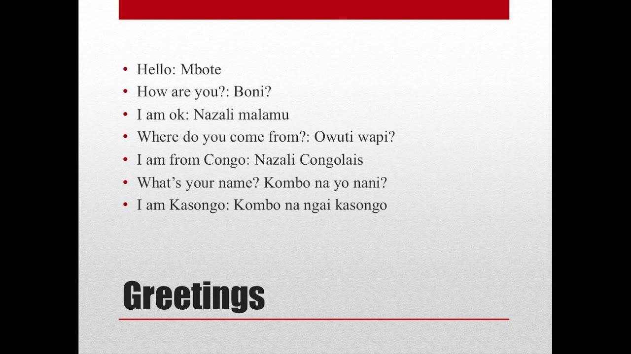 Lingala language lesson 1 youtube lingala language lesson 1 m4hsunfo