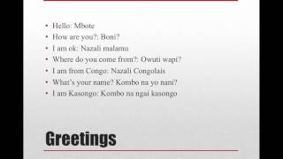 lingala language lesson 1