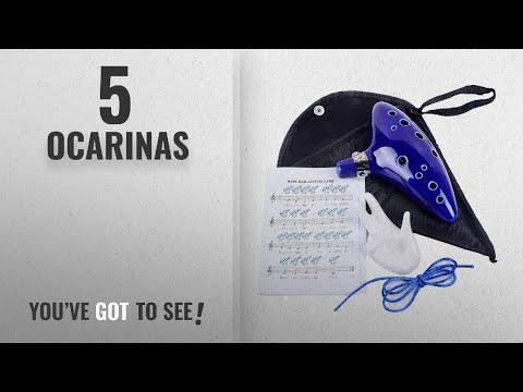 Top 10 Ocarinas [2018]: Ohuhu Legend of Zelda Ocarina 12 Hole Alto C with Textbook Display Stand