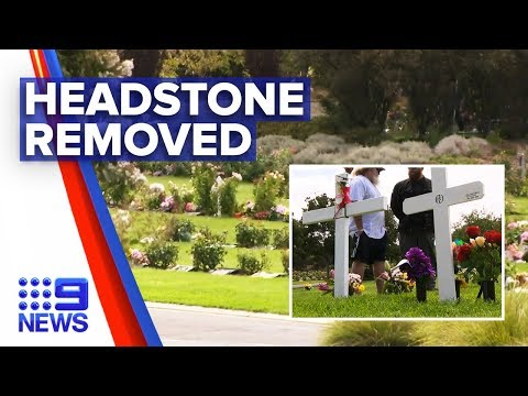 Family heartbroken as cemetery removes 'offensive' headstone | Nine News Australia