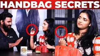 Pepper Spray inside Vasundhara Handbag | VJ Ashiq Reveals | What's Inside the HANDBAG