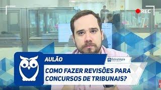 Concurso TRTs SP RJ Campinas e GO - Aprenda a fazer revises  Ao vivo