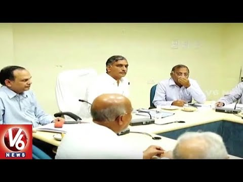 Minister Harish Rao Review Meet Over Construction Of Barrage Gates   V6 News