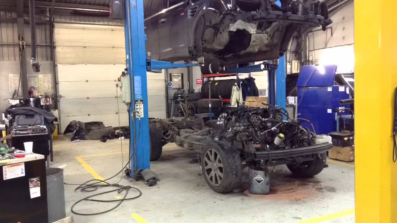 Range Rover Sport Engine Out And Strip Youtube