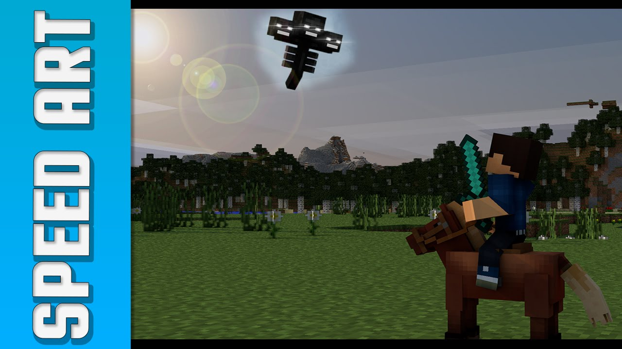 Minecraft Speed Art The Wither Effect Wallpaper Cinema 4d
