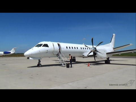 Eastern Airways T37316: Lorient - Lyon (Saab 2000) [HD 1080p]