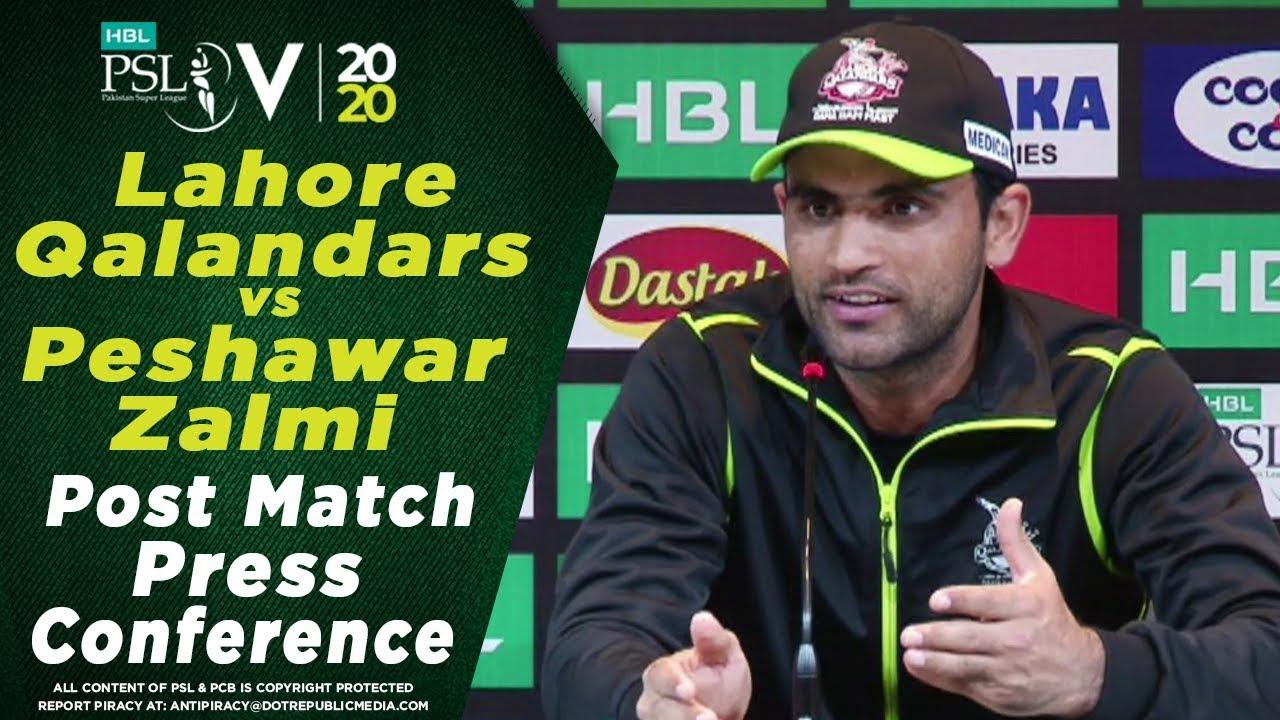 Fakhar Zaman Post Match Press Conference | Lahore Qalandars vs Peshawar Zalmi | HBL PSL 2020