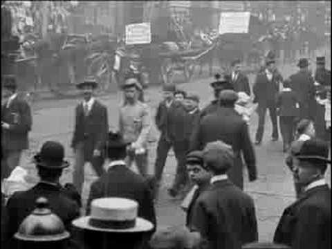 Manchester Street Scene 1901  BFI Archive