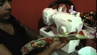Como fazer barrado de tecido em pano de prato