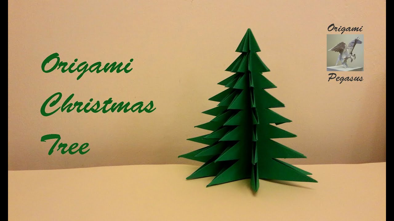 how to make an origami christmas tree youtube
