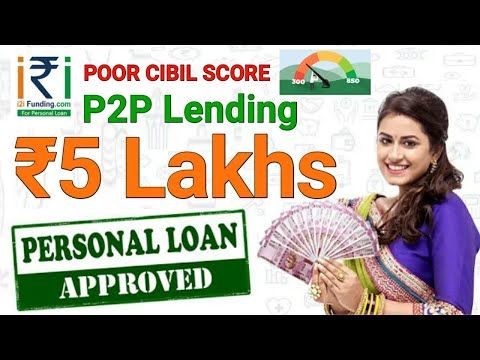 Peer to Peer Lending | Get ₹5 Lakh personal loan | Poor CIBIL SCORE Get a Loan hindi..