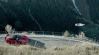 Defeating Gravity. Wingsuit vs. Corvette Z06.