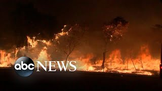 Battle against massive wildfires in California rages on | ABC News