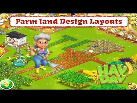 Hay Day Live Farm Land Design Layouts Youtube