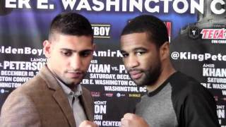 Boxing: Amir Khan vs. Lamont Peterson Staredown in Washington, DC Press Conference