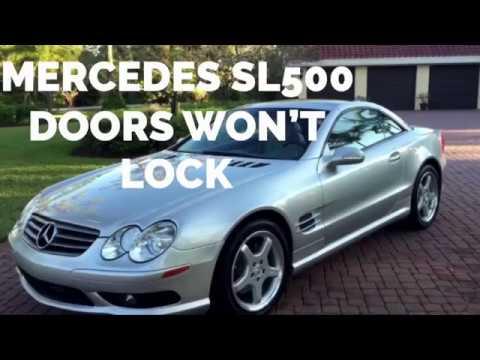 Mercedes Sl500 Doors Wont Lock Unlock Boot Wont Open How To Repair Youtube